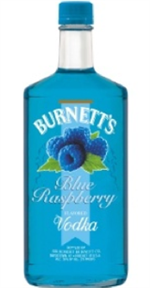 Burnett's Vodka Blue Raspberry 750ml - Case of 12